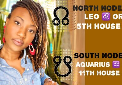 ⬆️🌙⬇️ North Node in Leo ♌️ or 5th House 🏡 South Node in Aquarius ♒️ or 11th House 🏡 // Astrology