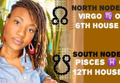 ⬆️🌙⬇️ North Node in Virgo ♍️ or 6th House 🏡 South Node in Pisces ♓️ or 12th House 🏡 // Astrology